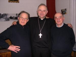 Nella foto: Don Enzo, Monsignor Castellani, Don Diomede