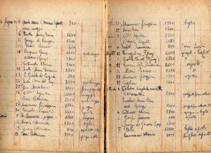 1954 - Quaderno delle quote versate.