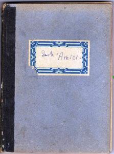 Copertina del registro degli Amici del Villaggio